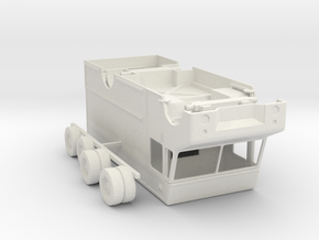 HO Scale UPS Truck in White Natural Versatile Plastic