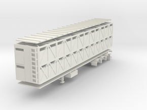 000636 Caddle Trailer B HO 1:87 in White Natural Versatile Plastic