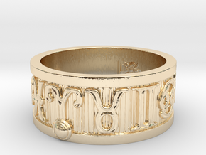 Zodiac Sign Ring Aries / 20.5mm in 14k Gold Plated Brass