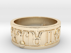 Zodiac Sign Ring Aries / 21.5mm in 14K Yellow Gold