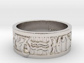 Zodiac Sign Ring Capricorn / 22mm in Rhodium Plated Brass