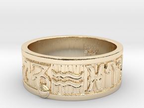 Zodiac Sign Ring Capricorn / 23mm in 14K Yellow Gold