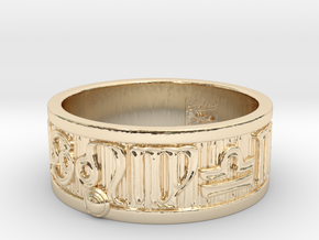 Zodiac Sign Ring Leo / 23mm in 14K Yellow Gold
