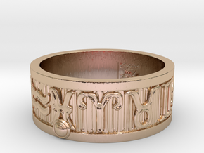 Zodiac Sign Ring Pisces / 22.5mm in 14k Rose Gold Plated Brass