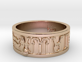 Zodiac Sign Ring Pisces / 23mm in 14k Rose Gold Plated Brass