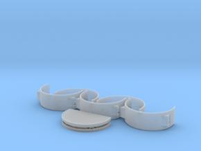 1/72nd scale Nissen hut set (7 pieces) in Smooth Fine Detail Plastic