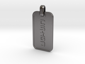 CS:GO Dogtag Ringed in Polished Nickel Steel