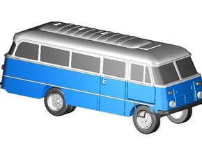 Robur-Bus (Z,1:220) in Smooth Fine Detail Plastic