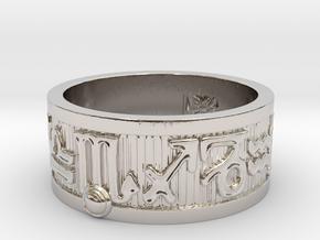 Zodiac Sign Ring Scorpio / 20.5mm in Rhodium Plated Brass