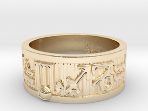 Zodiac Sign Ring Scorpio / 21mm in 14k Gold Plated Brass