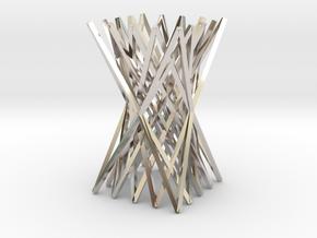 Chopstick Rest in Rhodium Plated Brass