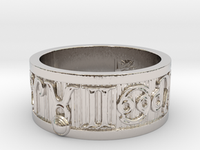 Zodiac Sign Ring Taurus / 20.5mm in Rhodium Plated Brass
