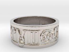 Zodiac Sign Ring Taurus / 21mm in Rhodium Plated Brass