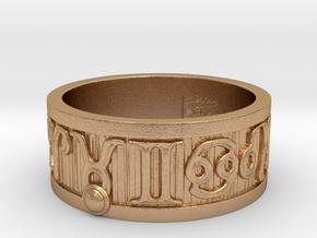 Zodiac Sign Ring Taurus / 21.5mm in Natural Bronze