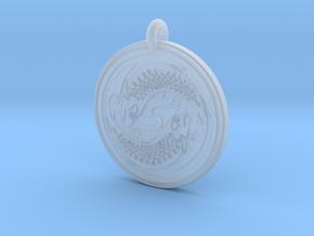 Fish Celtic - Round Pendant in Smooth Fine Detail Plastic
