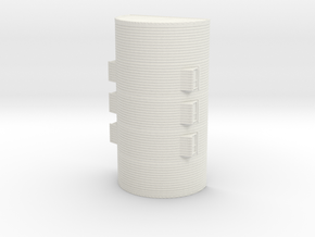 1/144th scale Nissen hut in White Natural Versatile Plastic