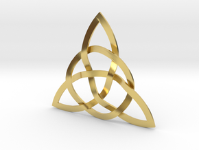 Trinity Knot in Polished Brass (Interlocking Parts)