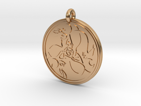 Hare Celtic - Round Pendant in Polished Bronze