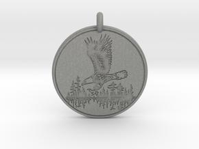 Bald Eagle Soaring Totem Pendant in Gray Professional Plastic