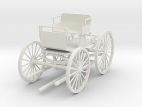 HDV01C Buckboard (1906) - Little Bits (1/24) in White Natural Versatile Plastic
