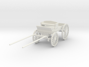 HDV02A Buckboard (28mm Wargaming) in White Natural Versatile Plastic