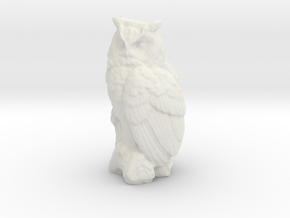 S Scale Owl in White Natural Versatile Plastic