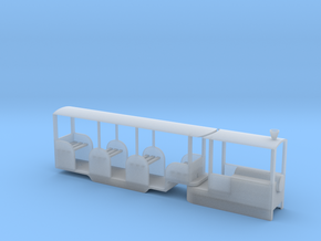 Miniature Railway Railcar 1:29th on 9mm in Smooth Fine Detail Plastic