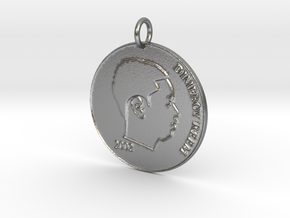 KaPs Coin Pendant (add your face)  in Natural Silver