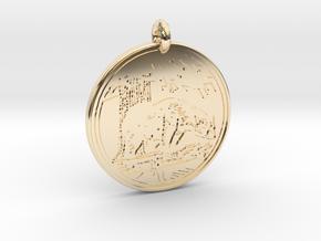 Black Bear Animal Totem Pendant in 14k Gold Plated Brass