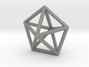0307 J13 Pentagonal Bipyramid E (a=1cm) #1 in Gray Professional Plastic