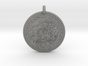 Beaver Animal Totem Pendant in Gray PA12
