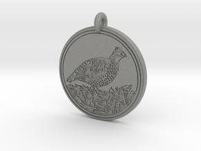 Bobwhite Animal Totem Pendant in Gray PA12