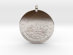 Brook Trout Animal Totem Pendant in Platinum