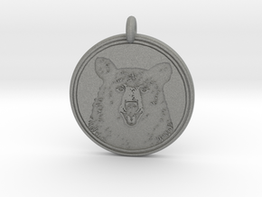 Black Bear Portait Animal Totem Pendant in Gray Professional Plastic