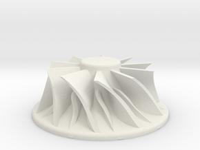 Fan Blade in White Natural Versatile Plastic