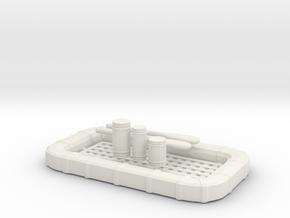 1/48 USN 25 man Life Raft Square with Aid KIT Set in White Natural Versatile Plastic