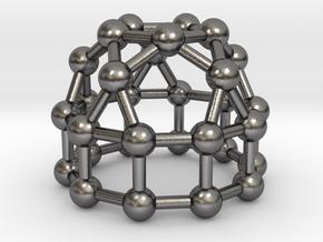 0778 J21 Elongated Pentagonal Cupola (a=1cm) #3 in Polished Nickel Steel