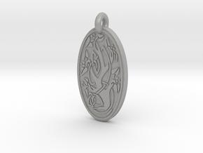 Sacred Tree/Tree of Life - Oval Pendant in Aluminum