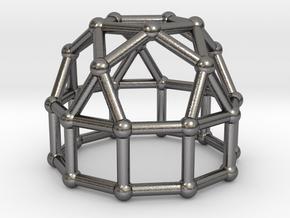 0777 J21 Elongated Pentagonal Cupola (a=1cm) #2 in Polished Nickel Steel