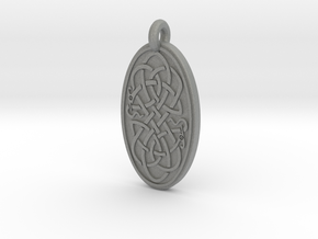 Serpent - Oval Pendant in Gray Professional Plastic