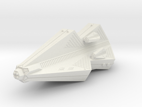 3788 Scale Tholian Pocket Battleship with Gunboats in White Natural Versatile Plastic