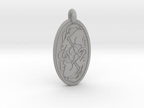 Hare - Oval Pendant in Aluminum