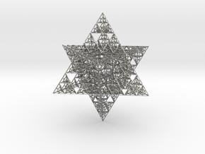 Sierpinski Merkaba V (downloadable) in Natural Silver