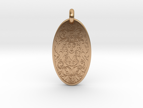 Brigantia - Oval Pendant in Polished Bronze