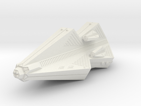 3125 Scale Tholian Pocket Battleship with Gunboats in White Natural Versatile Plastic