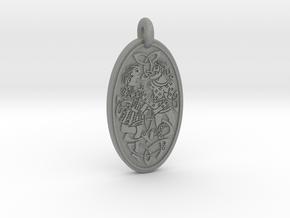Divine Couple - Round Pendant in Gray Professional Plastic