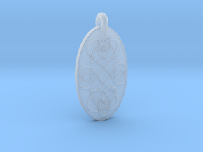 Heart - Oval Pendant in Smooth Fine Detail Plastic