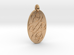 Heart - Oval Pendant in Polished Bronze