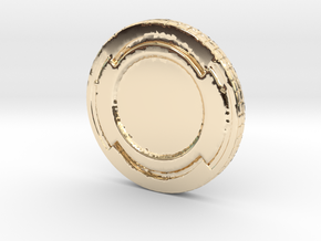 Star wars Sabacc Solo Simple Coin chip in 14k Gold Plated Brass