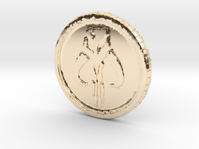 Star wars Sabacc Solo Mandalorian Bounty coin cred in 14K Yellow Gold